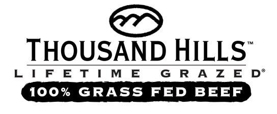 Thousand Hills Lifetime Grazed Logo