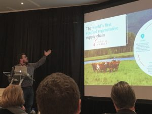 Chris Kerston presenting on Land To Market regenerative supply chain in South Africa