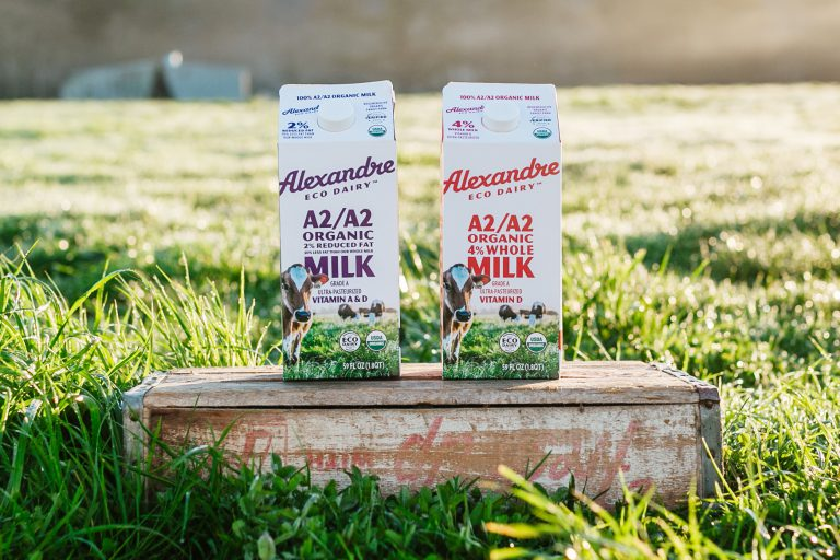 Alexandre Family Farm milk cartons