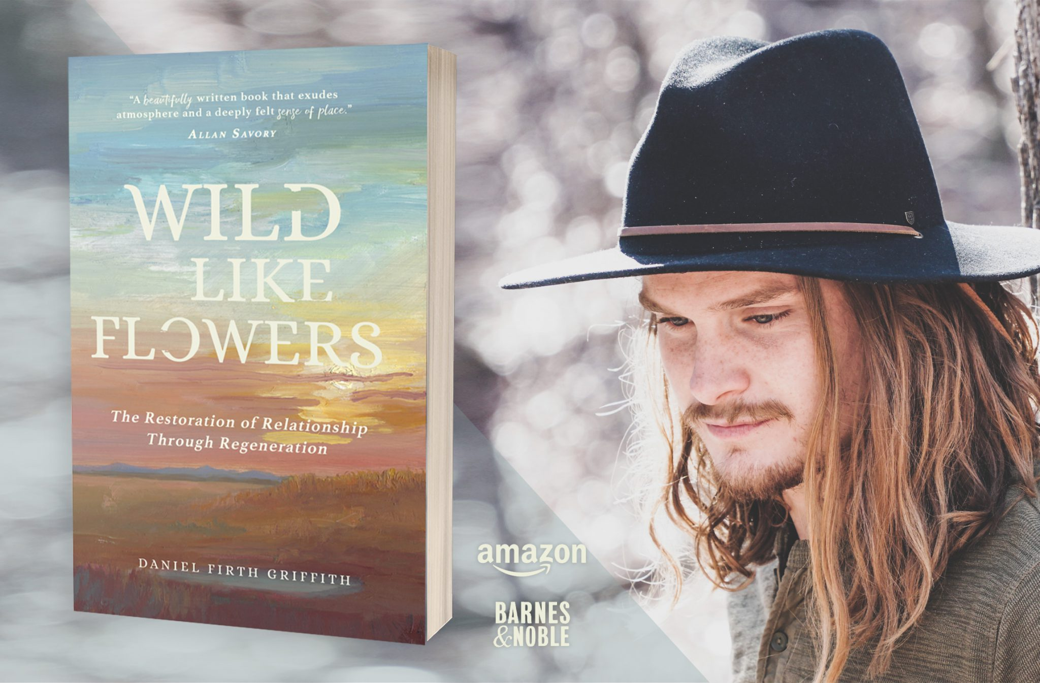 Wild Like Flowers book and photo of the author