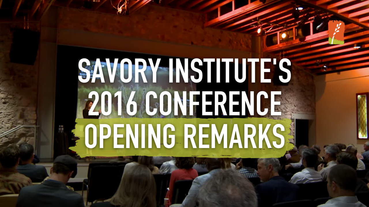 Opening Remarks 2016 conference