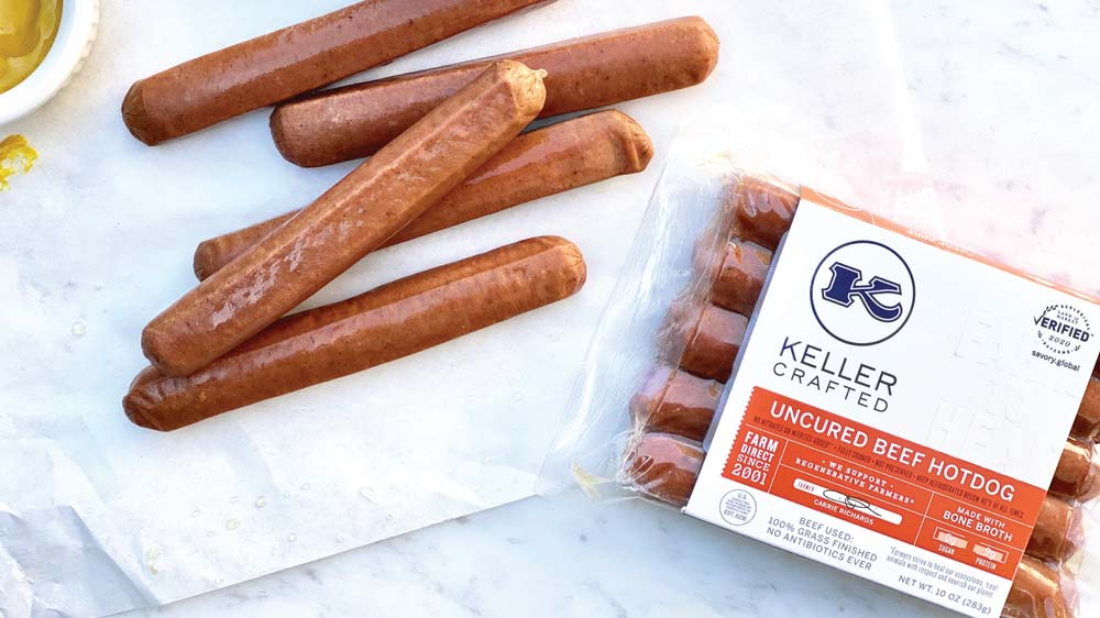 Keller Crafted Regeneratively Sourced Beef Hot Dogs - Land to Market